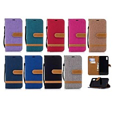 abordables Fundas para iPhone 6 Plus-Funda Para Apple iPhone XR / iPhone XS Max Cartera / Soporte de Coche / con Soporte Funda de Cuerpo Entero Un Color Dura Textil para iPhone XS / iPhone XR / iPhone XS Max