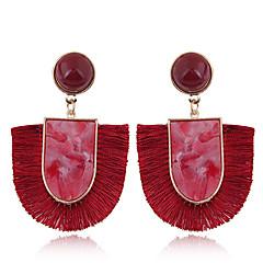preiswerte Ohrringe-Damen Quaste Tropfen-Ohrringe - Einfach, Europäisch, Modisch Rot / Grün / Blau Für Normal