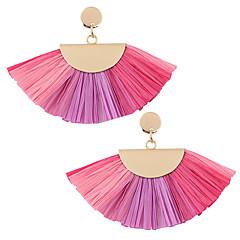 preiswerte Ohrringe-Damen Stilvoll / Geometrisch Tropfen-Ohrringe - Einfach, Europäisch, Mehrfarbig Rose / Braun / Blau Für Party / Normal