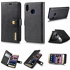 お買い得  Huawei Pシリーズケース/ カバー-DG.MING ケース 用途 Huawei P20 / P20 Pro ウォレット / カードホルダー / スタンド付き フルボディーケース ソリッド ハード 本革 のために Huawei P20 / Huawei P20 Pro / Huawei P20 lite