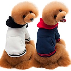 お買い得  犬用品-犬用 / 猫用 スウェットシャツ 犬用ウェア ソリッド ホワイト / ダークブルー / グレー コットン コスチューム ペット用 男性 シンプルなスタイル / カジュアル / スポーティ