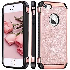 お買い得  iPhone 5S/SE ケース-アップルiphone 5のケースのbentobenケースショックプルーフ/メッキ/キラキラ輝くバックカバーキラキラ輝くハードpuレザー/ iphoneのセブ/ 5s / iphone 5c用PC