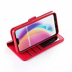 abordables Fundas / carcasas para Huawei serie P-Funda Para Huawei P20 / P20 lite Cartera / Soporte de Coche / Antigolpes Funda de Cuerpo Entero Un Color Dura Cuero de PU para Huawei P20 / Huawei P20 lite / P10 Plus