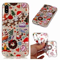 お買い得  iPhone 5S/SE ケース-ケース 用途 Apple iPhone XR / iPhone XS Max クリア / パターン バックカバー クリスマス ソフト TPU のために iPhone XS / iPhone XR / iPhone XS Max