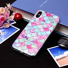 Недорогие Кейсы для iPhone 6-Кейс для Назначение Apple iPhone XS / iPhone XS Max IMD / Полупрозрачный Кейс на заднюю панель Полосы / волосы / Продукты питания Мягкий ТПУ для iPhone XS / iPhone XR / iPhone XS Max