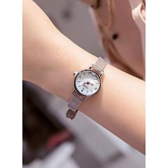 preiswerte Damenuhren-Damen Armbanduhr Quartz 30 m Kreativ Neues Design Edelstahl Band Analog Retro Modisch Silber - Weiß Schwarz