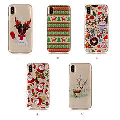 Недорогие Кейсы для iPhone 5-Кейс для Назначение Apple iPhone XR / iPhone XS Max IMD / С узором Кейс на заднюю панель Рождество Мягкий ТПУ для iPhone XS / iPhone XR / iPhone XS Max