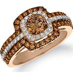 cheap Rings-Women's Layered Halo Ring - Copper, Rhinestone Ladies