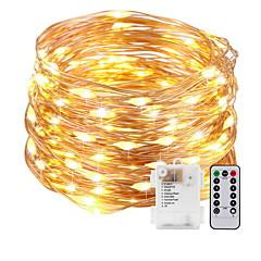 preiswerte LED Lichtstreifen-5m Leuchtgirlanden 50 LEDs Warmes Weiß AA-Batterien angetrieben 1 set