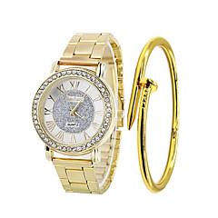 お買い得  レディース腕時計-女性用 リストウォッチ クォーツ 30 m クリエイティブ ステンレス バンド ハンズ ファッション シルバー / ゴールド / ローズゴールド - ゴールド シルバー ローズゴールド
