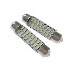 preiswerte Autozubehör-SENCART 2pcs 41mm Auto Leuchtbirnen 3 W SMD 3014 120-160 lm 16 LED Innenbeleuchtung / Außenleuchten Für
