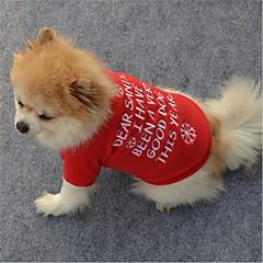お買い得  犬用ウェア&アクセサリー-犬用 / 猫用 ベスト 犬用ウェア メッセージ / スノーフレーク柄 レッド フリース コスチューム ペット用 男女兼用 クラシック / クリスマス