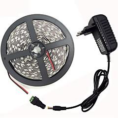 お買い得  LED ストリングライト-KWB 1x5M ライトセット 300 LED SMD5050 1セット取付金具 / 1 x 12V 3Aアダプタ 温白色 / ホワイト / レッド カット可能 / 装飾用 / 接続可 100-240 V 1セット