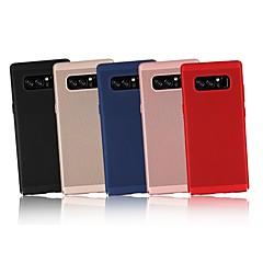 Недорогие Чехлы и кейсы для Galaxy Note 5-Кейс для Назначение SSamsung Galaxy Note 9 / Note 8 Ультратонкий Кейс на заднюю панель Однотонный Твердый ПК для Note 9 / Note 8 / Note 5