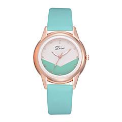 preiswerte Damenuhren-Damen Armbanduhr Quartz 30 m Kreativ Neues Design PU Band Analog Modisch Schwarz / Weiß / Braun - Braun Rosa Leicht Grün