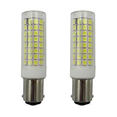 abordables LED e Iluminación-2pcs 5 W 460 lm BA15D Bombillas LED de Mazorca 102 Cuentas LED SMD 2835 Blanco Cálido / Blanco Fresco 110-130 V