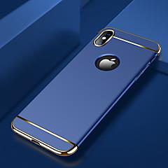 Недорогие Кейсы для iPhone X-Кейс для Назначение Apple iPhone X / iPhone XS Max Покрытие Кейс на заднюю панель Однотонный Твердый ПК для iPhone XS / iPhone XR / iPhone XS Max