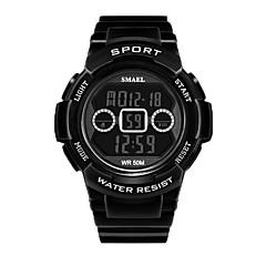 お買い得  メンズ腕時計-男性用 デジタルウォッチ デジタル カジュアルウォッチ Plastic バンド デジタル ファッション ブラック - Black / Red ブラック / ブルー ローズゴールド / ホワイト