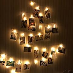 preiswerte LED Lichtstreifen-5m Leuchtgirlanden 20 LEDs Warmes Weiß Party 220-240 V 1 set