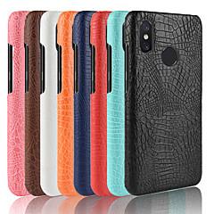 Недорогие Чехлы и кейсы для Xiaomi-Кейс для Назначение Xiaomi Mi 8 SE / Mi 6 Plus Матовое Кейс на заднюю панель Однотонный Твердый Кожа PU для Xiaomi Redmi Note 5 Pro / Xiaomi Redmi Note 6 / Xiaomi Redmi Note 4X