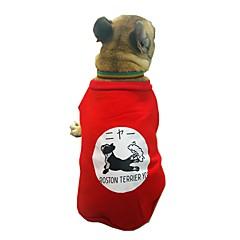 お買い得  犬用ウェア&アクセサリー-犬用 スウェットシャツ 犬用ウェア キャラクター / ブリティッシュ / スローガン ブラック / レッド コットン コスチューム ペット用 男女兼用 スウィート / カジュアル/普段着