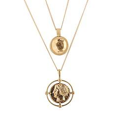preiswerte Halsketten-Damen Mehrschichtig Layered Ketten - Einfach Gold 40 cm Modische Halsketten Schmuck 1pc Für Alltag