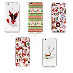 お買い得  Huawei Pシリーズケース/ カバー-ケース 用途 Huawei P20 Pro / P20 lite IMD / パターン バックカバー クリスマス ソフト TPU のために Huawei P20 / Huawei P20 Pro / Huawei P20 lite