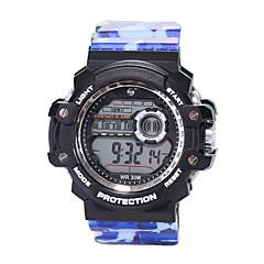 preiswerte Herrenuhren-Herrn Sportuhr digital 30 m Wasserdicht LCD Nachts leuchtend Silikon Band digital Retro Modisch Schwarz - Blau Marineblau Camouflage Grün