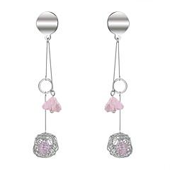 preiswerte Ohrringe-Damen Hohl Tropfen-Ohrringe - Künstliche Perle Kugel Koreanisch, Modisch Weiß / Grau / Rosa Für Party Normal
