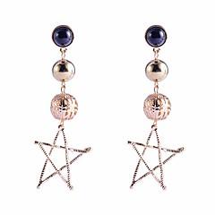 preiswerte Ohrringe-Damen Gliederkette Tropfen-Ohrringe - vergoldet Europäisch Gold / Silber Für Strasse