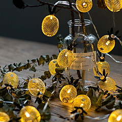 preiswerte LED Lichtstreifen-6m Leuchtgirlanden 40 LEDs Warmes Weiß Dekorativ 220-240 V 1 set