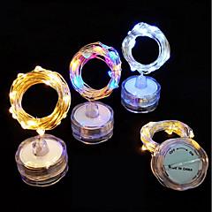 お買い得  LED ストリングライト-2m ストリングライト 20 LED 温白色 / クールホワイト 防水 / 装飾用 / クリスマスウェディングデコレーション バッテリー駆動 1個