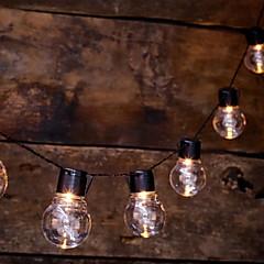 preiswerte LED Lichtstreifen-1m Leuchtgirlanden 10 LEDs Warmes Weiß Solar / Dekorativ Solarbetrieben 1 set