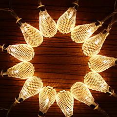 preiswerte LED Lichtstreifen-1.2 Leuchtgirlanden 10 LEDs Warmes Weiß Dekorativ AA-Batterien angetrieben 1 set