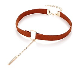 preiswerte Halsketten-Damen Klassisch Halsketten - damas, Puppen - Lolita Schwarz, Braun 31.5+7.5 cm Modische Halsketten Schmuck 1pc Für Alltag, Festival
