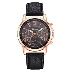 preiswerte Damenuhren-Damen Armbanduhr Quartz 30 m Armbanduhren für den Alltag PU Band Analog Freizeit Modisch Schwarz / Weiß / Blau - Blau Rosa Leicht Grün