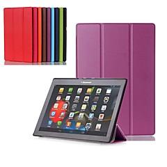Недорогие Чехлы и кейсы для Lenovo-Кейс для Назначение Lenovo Lenovo Tab 3 10 business (TB3-X70F / N) / Lenovo Tab 3 10 Plus со стендом / Флип / Поворот на 360° Чехол Однотонный Твердый Кожа PU для Lenovo Tab 3 10 Plus / Lenovo Tab 3