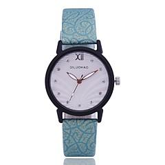preiswerte Damenuhren-Damen Armbanduhr Quartz Kreativ Neues Design Armbanduhren für den Alltag PU Band Analog Freizeit Modisch Schwarz / Weiß / Blau - Beige Grün Blau Ein Jahr Batterielebensdauer