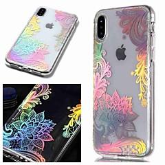 Недорогие Кейсы для iPhone 5-Кейс для Назначение Apple iPhone XR / iPhone XS Max IMD / Прозрачный / С узором Кейс на заднюю панель Цветы Мягкий ТПУ для iPhone XS / iPhone XR / iPhone XS Max
