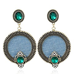 preiswerte Ohrringe-Damen Grün Grün Kristall Retro Tropfen-Ohrringe - Retro, Europäisch Bronze Für Strasse