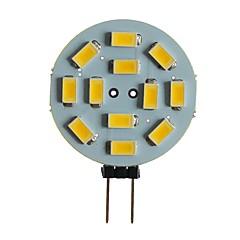 お買い得  LED 電球-SENCART 1個 5 W 360 lm G4 / MR11 LED2本ピン電球 T 12 LEDビーズ SMD 5630 装飾用 温白色 / ホワイト 12 V