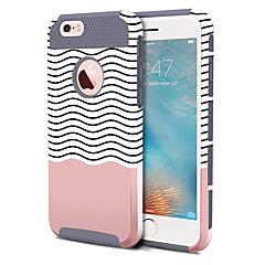 Недорогие Кейсы для iPhone 6-BENTOBEN Кейс для Назначение Apple iPhone 6 Plus / iPhone 6s Plus Защита от удара / С узором Кейс на заднюю панель Полосы / волосы Твердый ТПУ / ПК для iPhone 6s Plus / iPhone 6s / iPhone 6 Plus