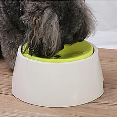 お買い得  犬用品&グルーミング用品-1 L 犬用 / 猫用 餌やり&水やり用品 ペット用 ボウル&摂食 調整可能 ホワイト