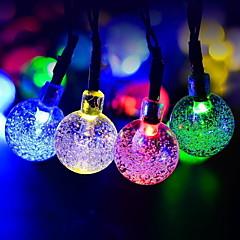 お買い得  LED ストリングライト-4m ストリングライト 20 LED マルチカラー 装飾用 ソーラー駆動 1セット