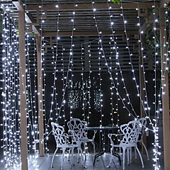 preiswerte LED Lichtstreifen-6m Leuchtgirlanden 600 LEDs Weiß Dekorativ 220-240 V 1 set