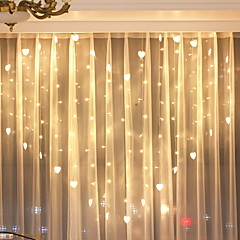 preiswerte LED Lichtstreifen-2m Leuchtgirlanden 124 LEDs Warmes Weiß Dekorativ 220-240 V 1 set