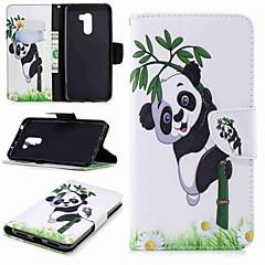 Недорогие Чехлы и кейсы для Xiaomi-Кейс для Назначение Xiaomi Xiaomi Pocophone F1 / Redmi 6 Кошелек / Бумажник для карт / со стендом Чехол Панда Твердый Кожа PU для Redmi Note 5A / Xiaomi Redmi Note 5 Pro / Xiaomi Redmi Note 6