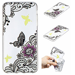 Недорогие Кейсы для iPhone 5-Кейс для Назначение Apple iPhone XS / iPhone XS Max С узором Кейс на заднюю панель Бабочка / Цветы Мягкий ТПУ для iPhone XS / iPhone XR / iPhone XS Max