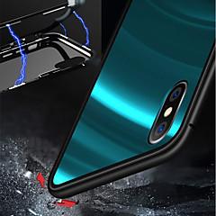 Недорогие Кейсы для iPhone X-Кейс для Назначение Apple iPhone XR / iPhone XS Max Защита от удара / Магнитный Чехол Однотонный Твердый Металл для iPhone XS / iPhone XR / iPhone XS Max