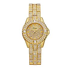 お買い得  レディース腕時計-女性用 リストウォッチ クォーツ 30 m クリエイティブ 新デザイン 合金 バンド ハンズ ぜいたく ファッション シルバー / ゴールド / ローズゴールド - ゴールド シルバー ローズゴールド